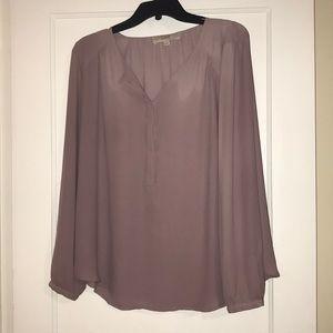 Light purple flowy blouse from Ann Taylor LOFT